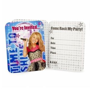 Hannah Montana Pack Of 8 Invitations